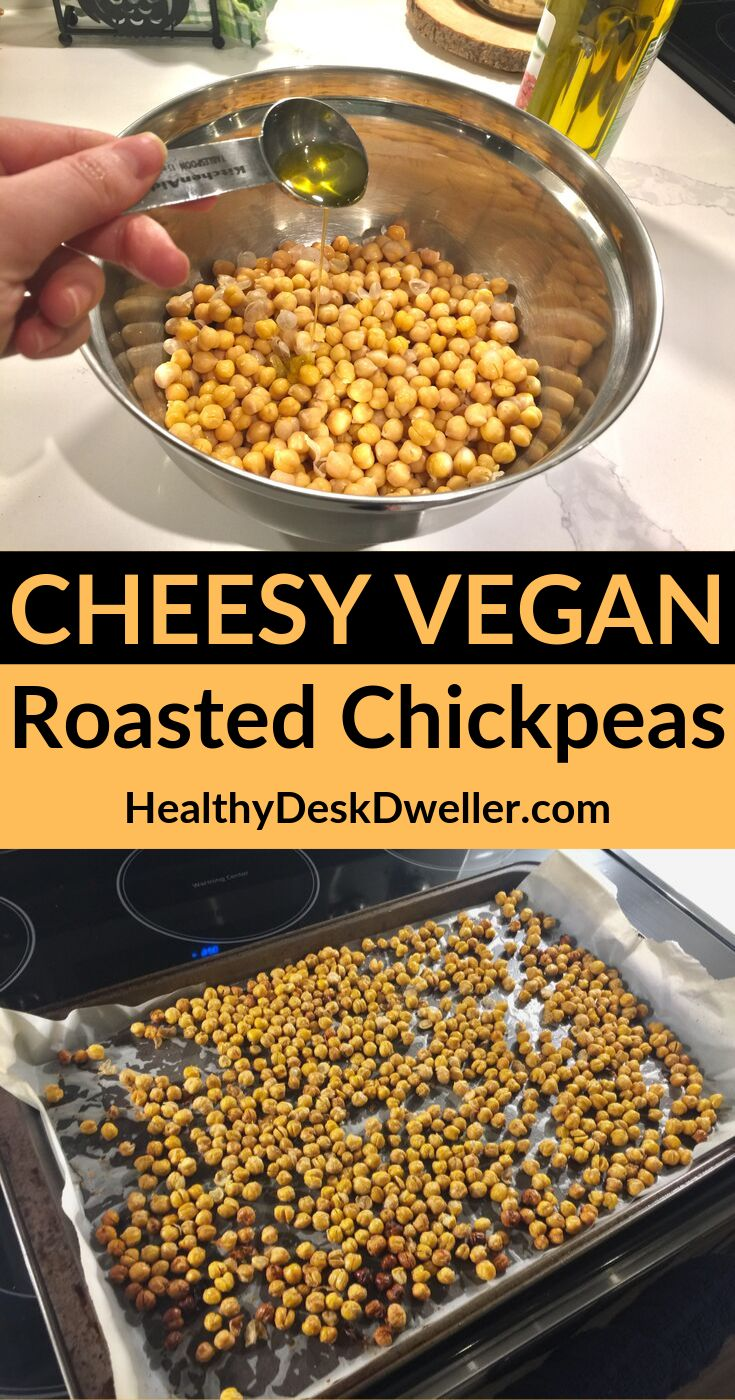 When you're craving a salty, crunchy, CHEESY snack, these amazing roasted chickp…   – Recipes for Building Muscle