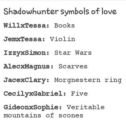 Ha. I love Will and Tessa's. I mean what book nerd doesn't love geeking out with another book nerd.