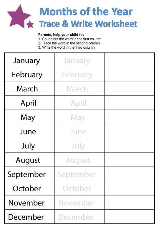 Resultado de imagen de months of the year worksheets