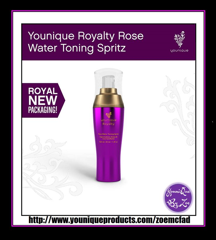 Royalty Rose Water Toning Spritz You'll absolutely love the skin you're in after just a spray or two of this floral, invigorating toner. Created with rose extract, vitamins, and antioxidants, Rose Water Toning Spritz will leave your skin feeling fresh, calmed, and soothed. #YOUNIQUE #australia #newzealand #germany #spain #france #canada #usa #uk #mexico #hongkong #beauty #makeup #skincare