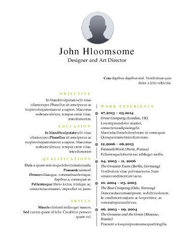 7 best resume images on Pinterest Resume templates, Cv template - resume templates for high school graduates