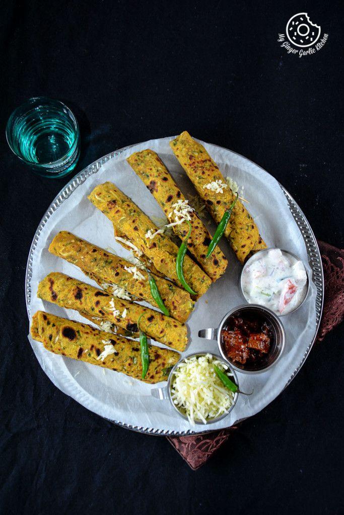 CABBAGE SPINACH THEPLA! #breakfast #recipes #vegan