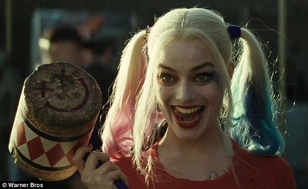 Margot Robbie's Harley Quinn stripped down to her underwear in new Suicide Squad trailer unveiled at the MTV Movie Awards on Sunday