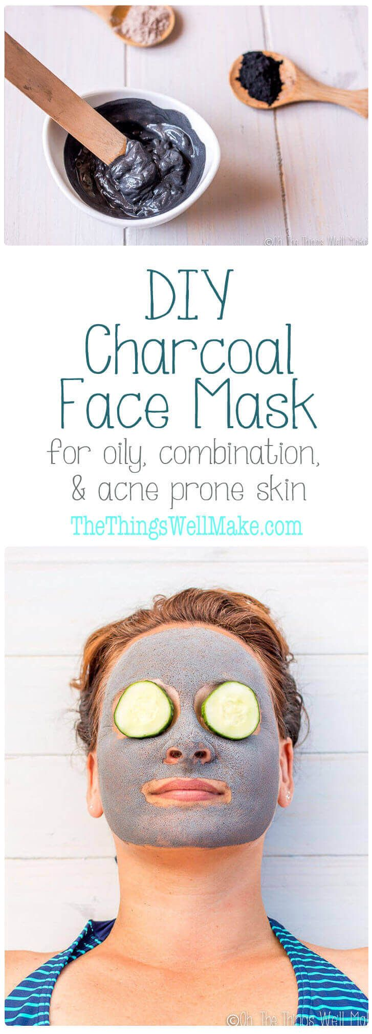 Clear up your skin with this easy, DIY charcoal face mask which is great for oily, combination, and acne prone skin.