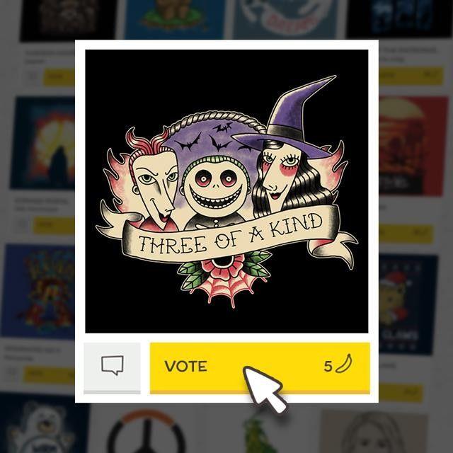 (EN) Have you seen our latest designs? VOTE for your favorites on WWW.WISTITEE.COM (FR) Avez-vous vu nos derniers designs ? VOTEZ pour vos préférés sur WWW.WISTITEE.COM  #JackSkellington #LEtrangeNoelDeMonsieurJack #TheNightmareBeforeChristmas #Brelan #ThreeOfAKind #Halloween #TimBurton #PaulaGarcia #wistitee #design #tee #tshirt #illustration #mypushup http://ift.tt/1GHJQNK