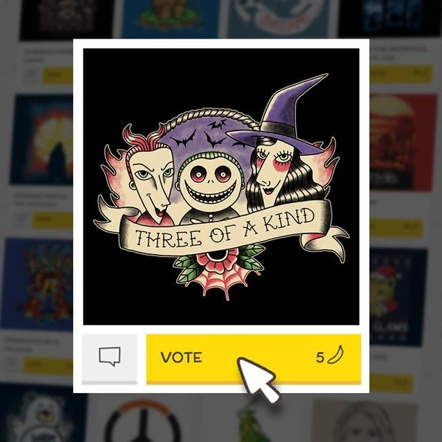 (EN) Have you seen our latest designs? VOTE for your favorites on WWW.WISTITEE.COM (FR) Avez-vous vu nos derniers designs ? VOTEZ pour vos préférés sur WWW.WISTITEE.COM  #JackSkellington #LEtrangeNoelDeMonsieurJack #TheNightmareBeforeChristmas #Brelan #ThreeOfAKind #Halloween #TimBurton #PaulaGarcia #wistitee #design #tee #tshirt #illustration #mypushup http://ift.tt/1GHJQNK