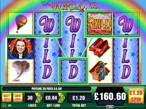 WMS gaming The Wizard of Oz slot Nice Win!