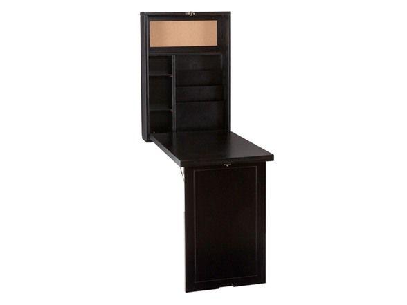 SEI Black Convertible Fold-Out Desk