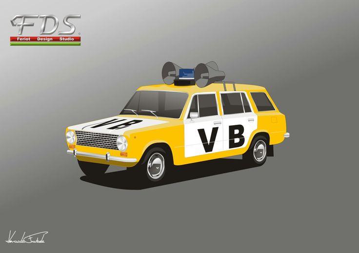 VAZ 2102 Old Police car CSSR