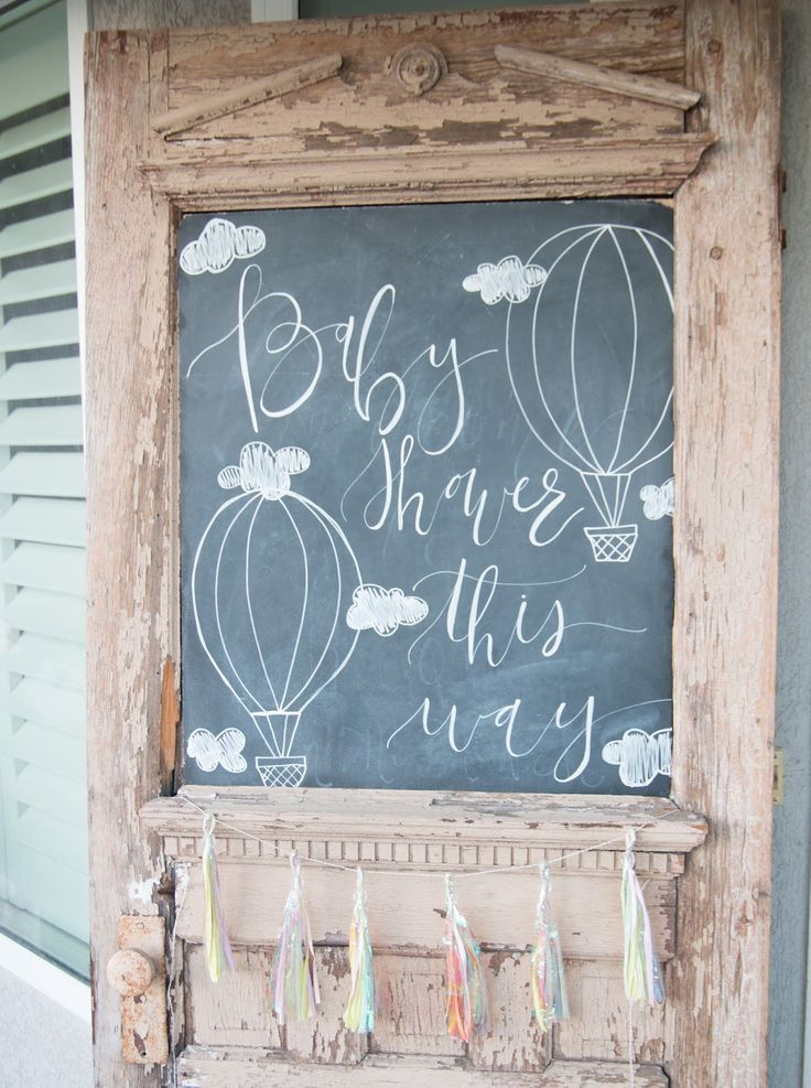 Hot Air Balloon Baby Shower! Such a cute theme for a boy or girl!