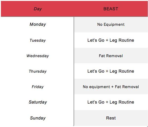 Přes 25 nejlepších nápadů na téma Beginner Calisthenics na - beast workout sheet