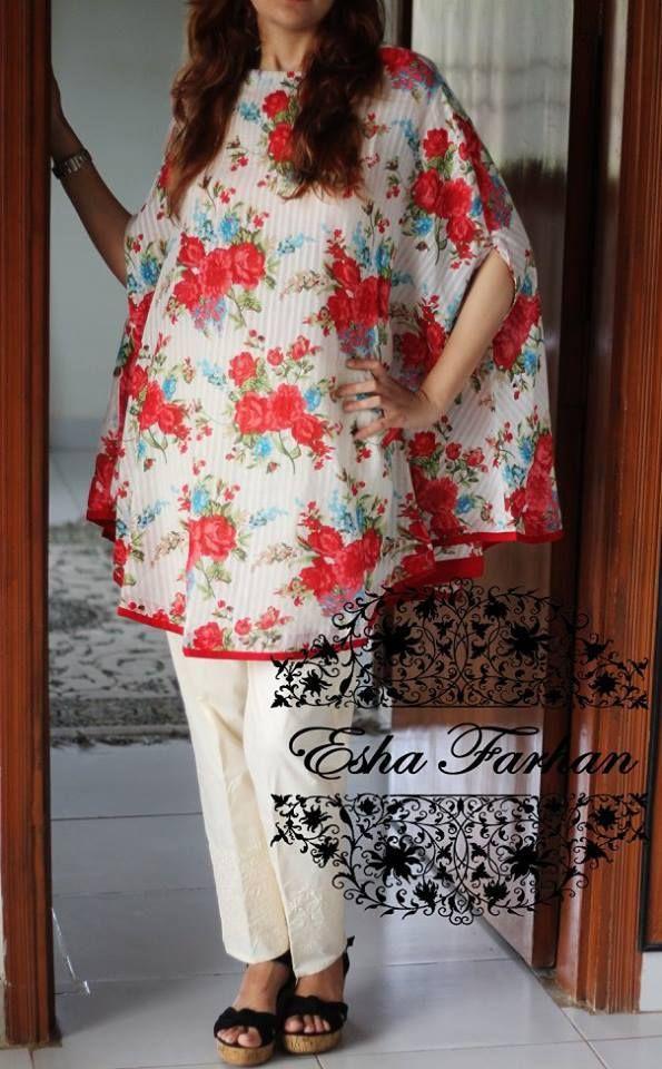 182 best Pakistani cape dress pattern images on Pinterest | Sewing ...
