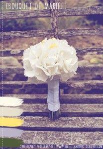 bouquet de mariée majorité de blanc et une pointe de jaune  ©Sweetcandy Photographie