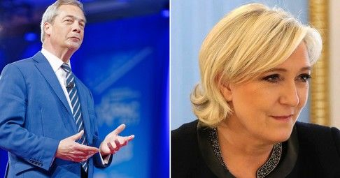 "Farage Officially Endorses Le Pen: 'If She Fails, She Will Win in 2022' #Brexit Dan Lyman | Infowars, 'I'm supporting Marine Le Pen' announces Brexit mastermind. Brexit architect Nigel Farage has officially thrown his support behind French presidential candidate, Marine Le Pen, as Sunday's final round of voting approaches. ""I'm supporting... http://conservativeread.com/farage-officially-endorses-le-pen-if-she-fails-she-will-win-in-2022-"