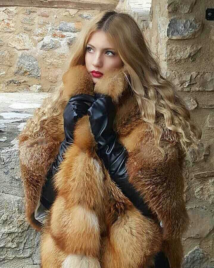 Red fox cape by Samel furs❤
