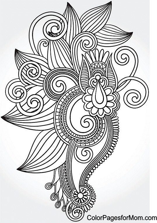 Paisley 53 Coloring Page