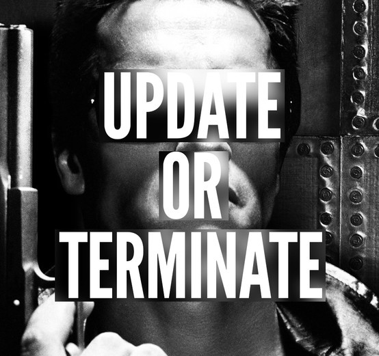 Update or Terminate! // #browserpuns #termexplorer #terminator #iesucks #ie #update #arnold #meme