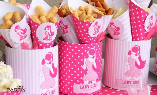 Pink Party for a Tween Girl via Kara's Party Ideas KarasPartyIdeas.com #pink #tween #girl #party #ideas