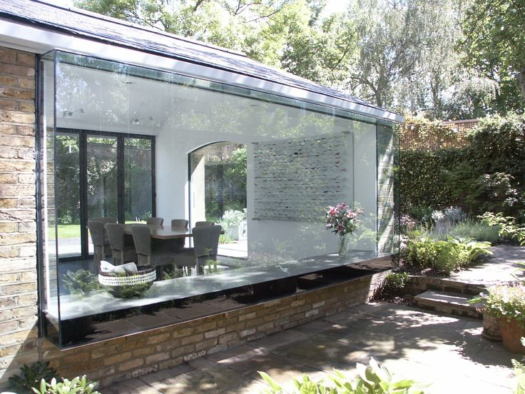 bay window with fix glass to garden Charles Barclay Architects http://cbarchitects.co.uk
