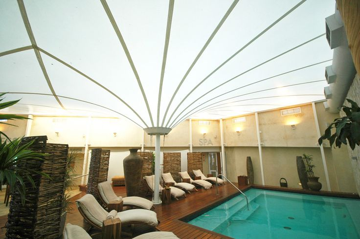 Radisson Hotel Spa - Tension Structures  #tensilestructures #tensilemembranes #fabricstructures #spa #luxury #ceiling #architecture