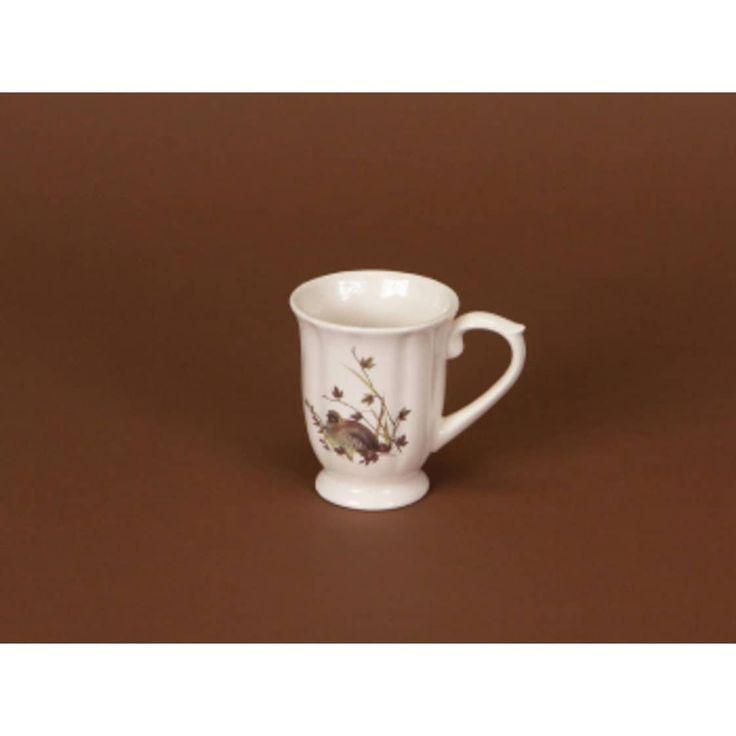 Pack of 6 Rustic Lodge White & Brown Partridge Bird Coffee Mugs 4.5, Multi