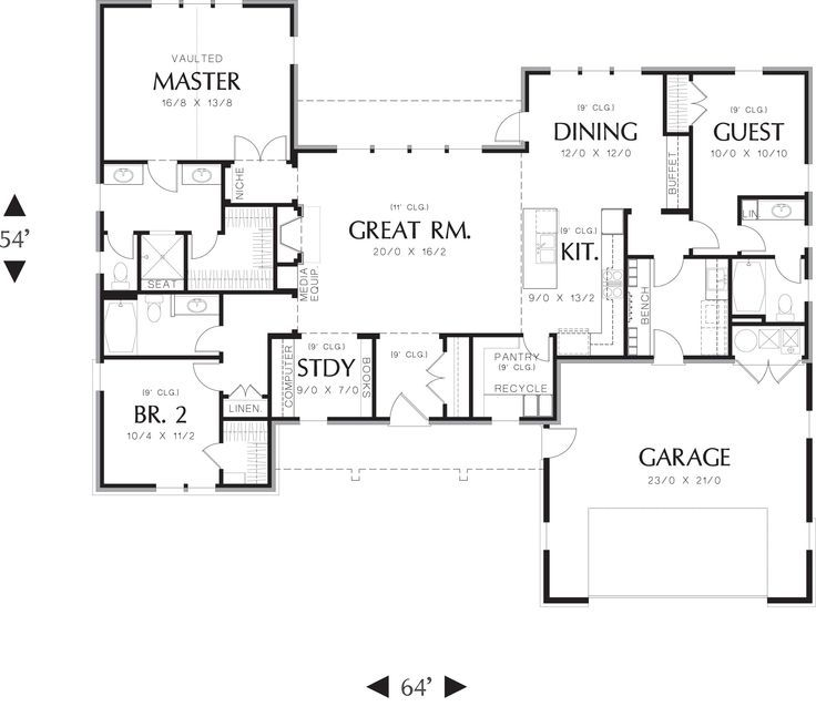 Ranch Style House Plans Luxury House Plans Designs in addition One Story Floor Plans With Basements besides 570409109029659624 likewise 143763413082485354 furthermore 1439 Square Feet 2 Bedrooms 2 Bathroom Modern House Plan 0 Garage 36681. on ranch house plans with clerestory windows