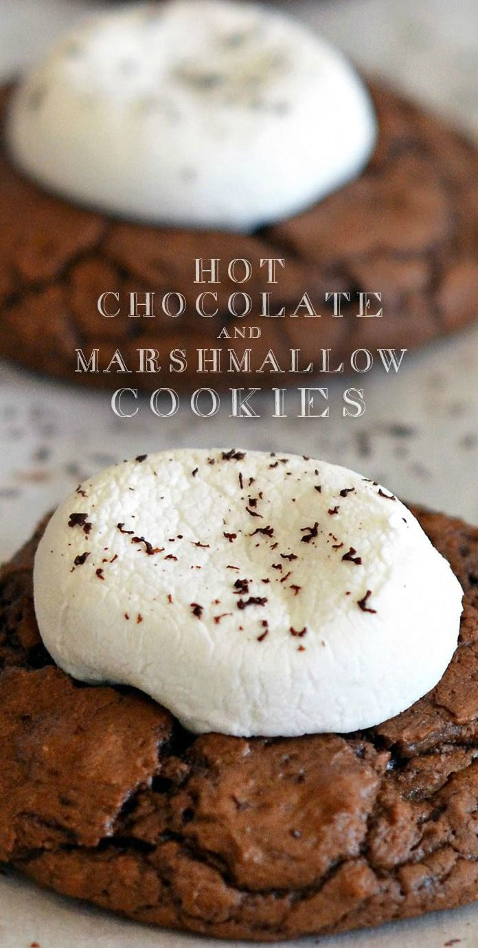 Hot Cocoa #Cookies with Marshmallows...