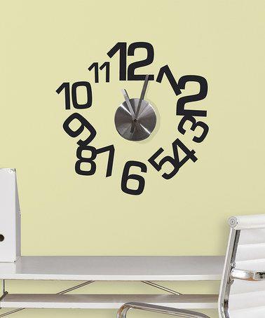 Look at this #zulilyfind! Contemporary Wall Decal Clock #zulilyfinds