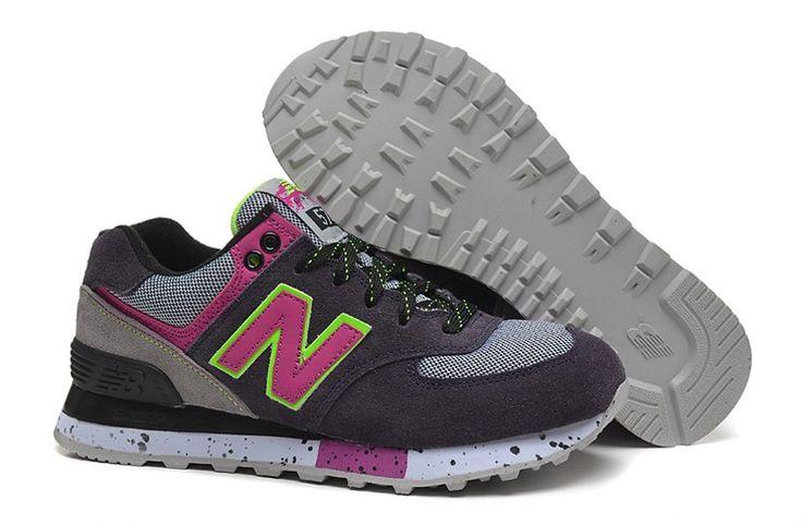 New Balance ML574 Womens Popular shoes Deep Grey/Light Grey Lifestyle Sneakers