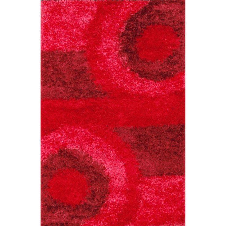 abc decorative red shag rug 5u0027 x 8u0027 5x8