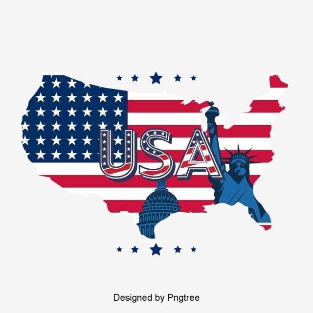 アメリカ国旗地図 旗のクリップアート 地図クリップアート アメリカ画像とpsd素材ファイルの無料ダウンロード Pngtree In 2020 Simple Cartoon Cartoon Clip Art Flag