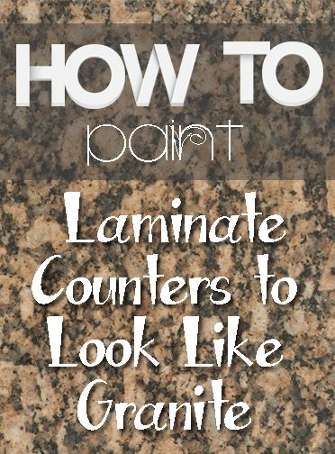Tips for painting laminate counters- this is awesome, it looks like granite:)