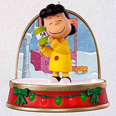 cd80e16e03180 Amazon.com  Hallmark Keepsake 2018 A Charlie Brown Christmas Lucy Ornament  With Sound and