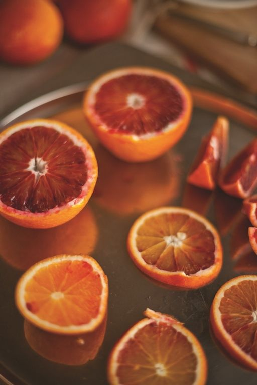 Czerwone pomarańcze - prezentowały się pięknie