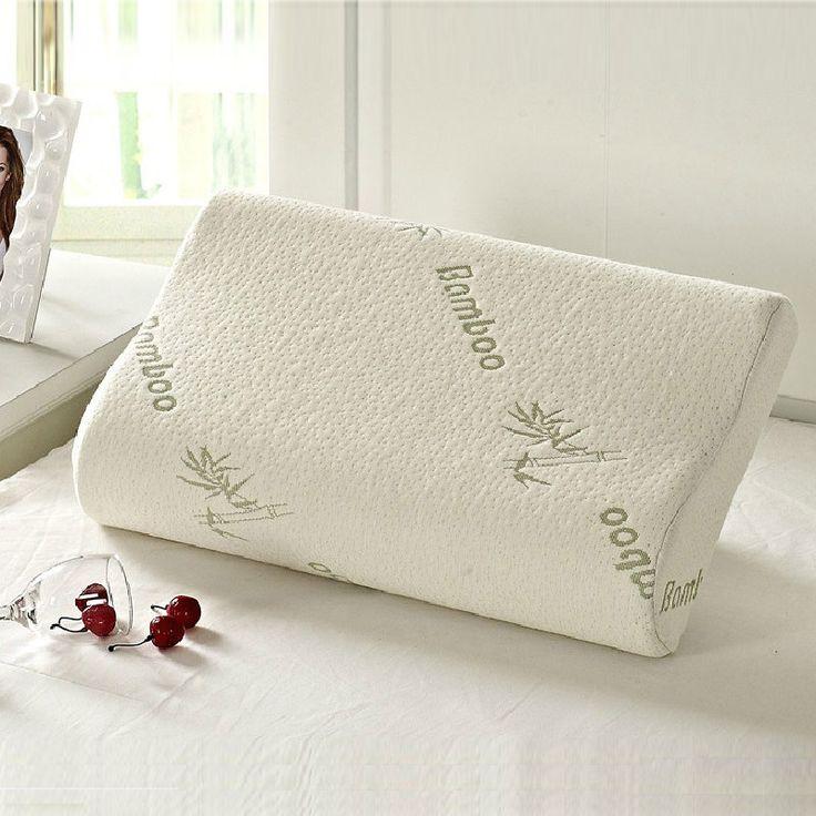 High Quality Bamboo Fiber Pillow Slow Rebound Memory Foam Pillow Health Care Memory Foam Pillow Massager Travesseiro Almohada