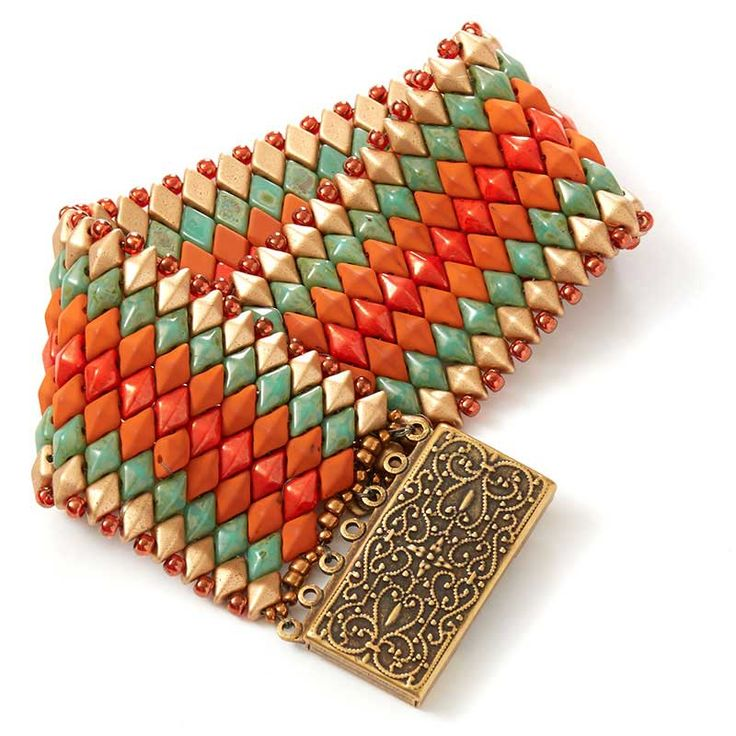 Moroccan Sunset beadweaving project by Shae Wilhite