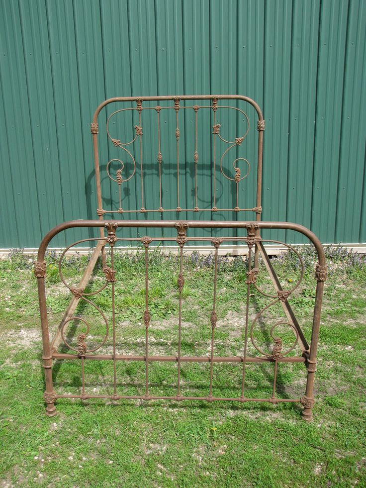Antique Iron Bed Frame With Springs : Antique iron bed frame cabin home away from