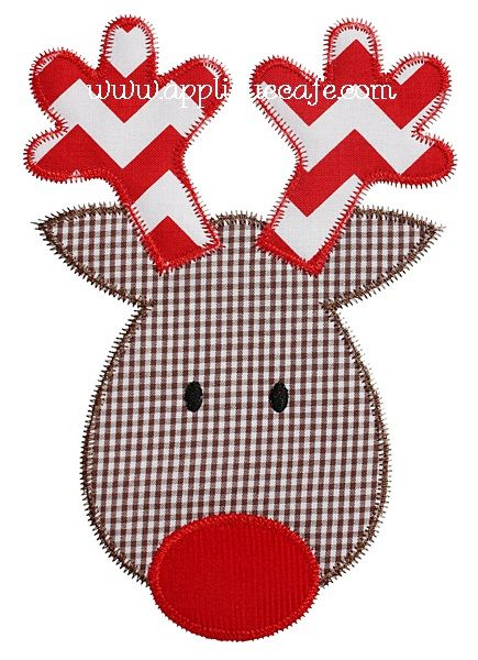 Zig Zag Reindeer Applique Design