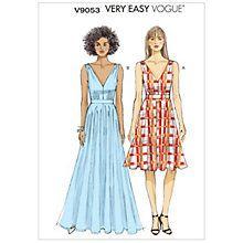 Summer dress patterns vogue online