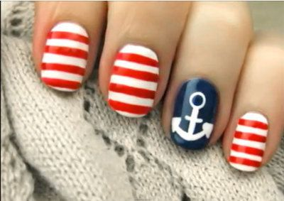 sailor style #nails