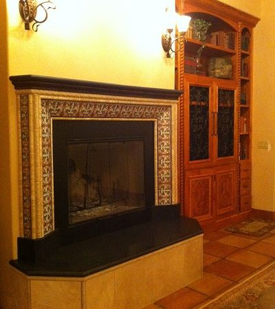 Spanish Fireplace Designs | Avente Tile Talk: Spanish Tiles Create A  Classic Look For Fireplace