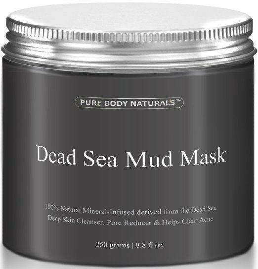THE BEST Dead Sea Mud Mask Facial Treatment, Minimizes Pores, Reduces Wrinkles  #PureBodyNaturals