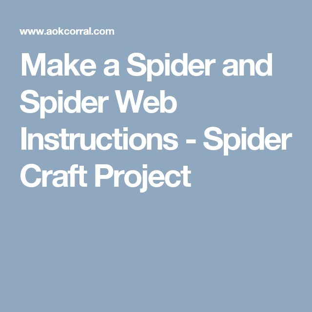 Make a Spider and Spider Web Instructions - Spider Craft Project