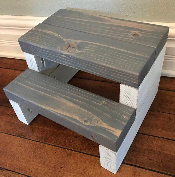 Enjoyable Rustic Segmented Kids Step Stool Toddler Step Stool Wooden Pdpeps Interior Chair Design Pdpepsorg