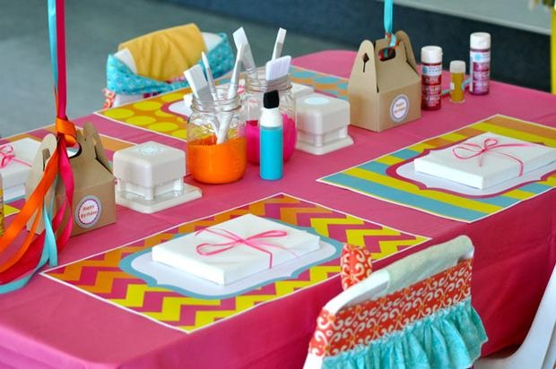 Hostess with the Mostess® - Color Blocked Art/Craft Party