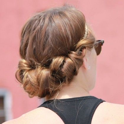 twisted simple casual up do gibson tuck quick hairstyles