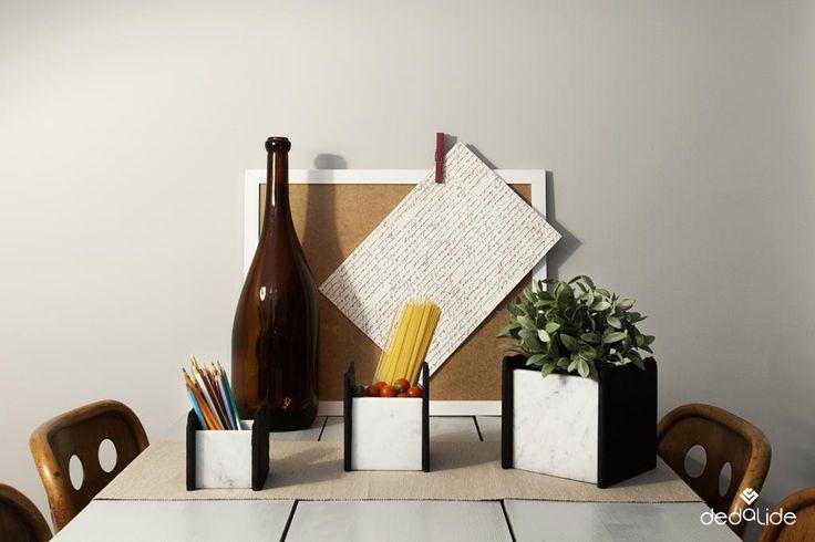 CUBIC Contenitori di pietra - Stone Box Ardesia e marmo di Carrara per contenere quello che vuoi tu... #dedalide #deda #design #contenitori #box #cucina #arredamento #Madeinitaly #Homedecor #marmo #ardesia
