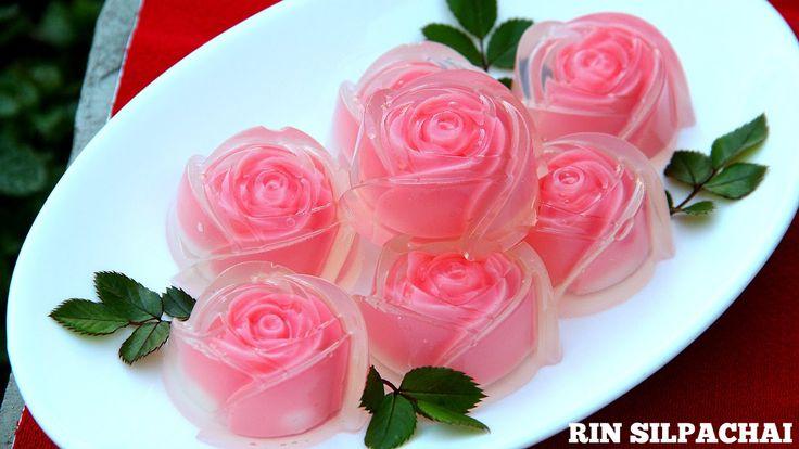 วิธีทำ วุ้นกุหลาบแก้ว สำหรับวันแห่งความรัก (Thai Rose Jelly) (Thai audio)