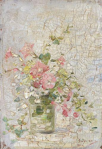 NICOLAE GRIGORESCU ( 1838-1907 ) Flori de vară în pahar / Summer flowers in glass