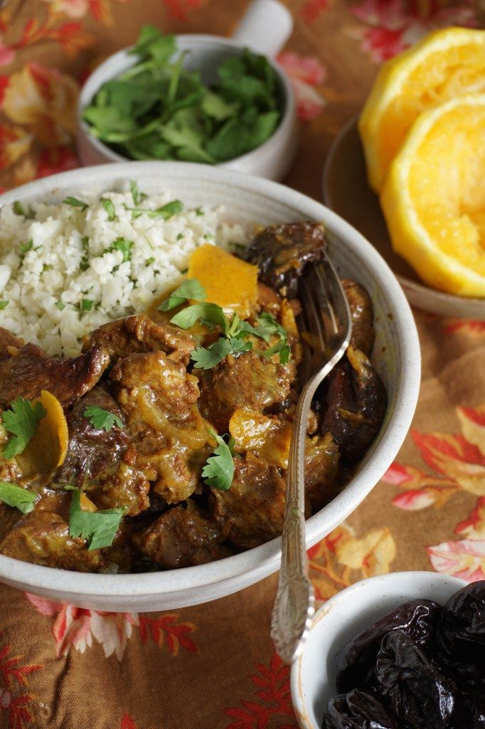 "Lamb Tagine with Orange and Prunes, Cilantro ""Butter Couscous"" {AIP, GAPS, SCD, Paleo} – Healing Family Eats"